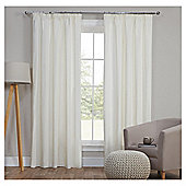 Blackout Pencil Pleat Curtains, Duck Egg (66 x 54'') - Ivory