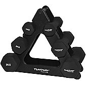 Tunturi Neoprene Dumbbell Set with Triangle Stand