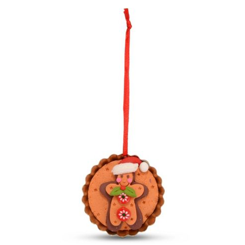 Hanging Gingerbread Muffin Christmas Tree Decoration - Gingerbread Man Design