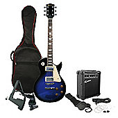 Rockburn Rock Style Electric Guitar Package - Blue