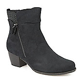Pavers Boot with Stud Detail - Black