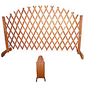 Trellis - Solid Wood Expanding Arched Garden Screen - Tan Brown