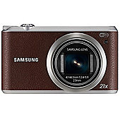 "Samsung WB350F Smart Digital Camera, Brown, 16.3MP, 21x Optical Zoom, 3"" LCD Screen, Wi-Fi"