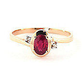 QP Jewellers Diamond & Ruby Meridian Ring in 14K Rose Gold
