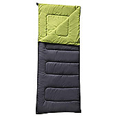 Tesco 300gsm Rectangular Sleeping Bag Grey/Green