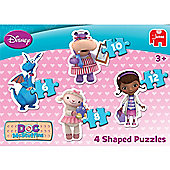 Disney Doc McStuffins 4 in 1 Shaped Puzzle