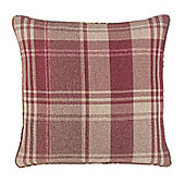 Julian Charles Inverness Rust Luxury Filled Square Cushion