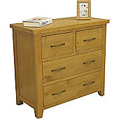 Chelsea Oak 2 Over 2 Chest Of Drawers