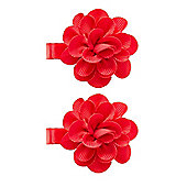 Mothercare Young Girls Red Corsage Clips - 2 Pack