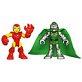 Playskool Heroes - 6cm Iron Man and Doctor Doom Figures