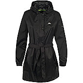 Trespass Ladies Compac Mac Waterproof Packaway Coat - Black