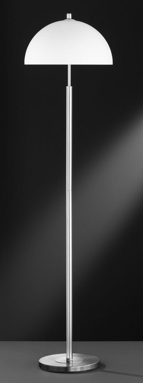 Wofi Georgia 3 Light Floor Lamp - Satin Nickel