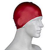 Speedo Long Hair Senior Silicone Swimming Cap - Red