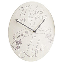 Tesco Make Time To Enjoy The Simple Things Clock
