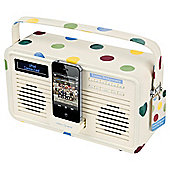 Viewquest Emma Bridgewater Retro DAB+/FM Radio with 30 Pin iPod dock Polka Dot