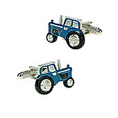 Blue Tractor Novelty Themed Cufflinks