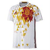 adidas Spain FEF Away Football Euro Jersey 2016 - White