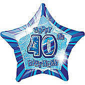 40th 20' Star Foil Balloon (each)