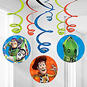 Toy Story Party Hanging Swirls - 61cm (6pk)