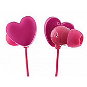 Heart In-Ear Headphones With Mic Trendz Packaging