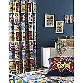 Catherine Lansfield Home Kids Comic Strip Multi Coloured Cotton Rich Curtains 66x72