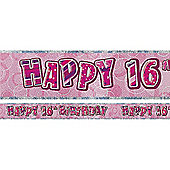 Dazzling Effects 16th Birthday Banner (each)