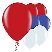 Red, White and Blue 9' Latex Balloons (50pk)