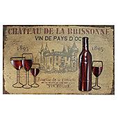 CIMC Home Vintage Vin Rouge Wall Art