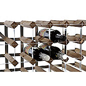Traditional Winerack Co Pre- Assembled Wine Rack - 12 Bottles - Black Ash