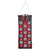Large Rectangle Fabric Mouse Advent Calendar with Numbered Pockets