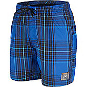 Speedo Mens Yarn Dye Check Shorts - Blue