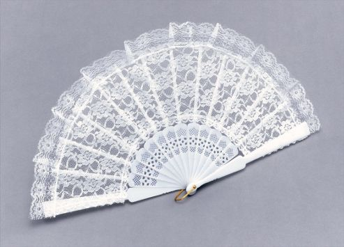 Fan. White Lace