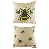 Bumble Bee Reversible Cushion
