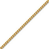 Gilded Sterling Silver Link Pendant Curb Chain - 16 inch