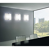 Leucos Selis 2 Light Wall / Ceiling Light - White Satin