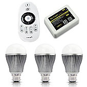MiLight B22 9W Smart Light Starter Kit with Bridge, Remote and 3 Bulbs