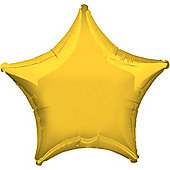Yellow Star Balloon - 19' Foil (each)