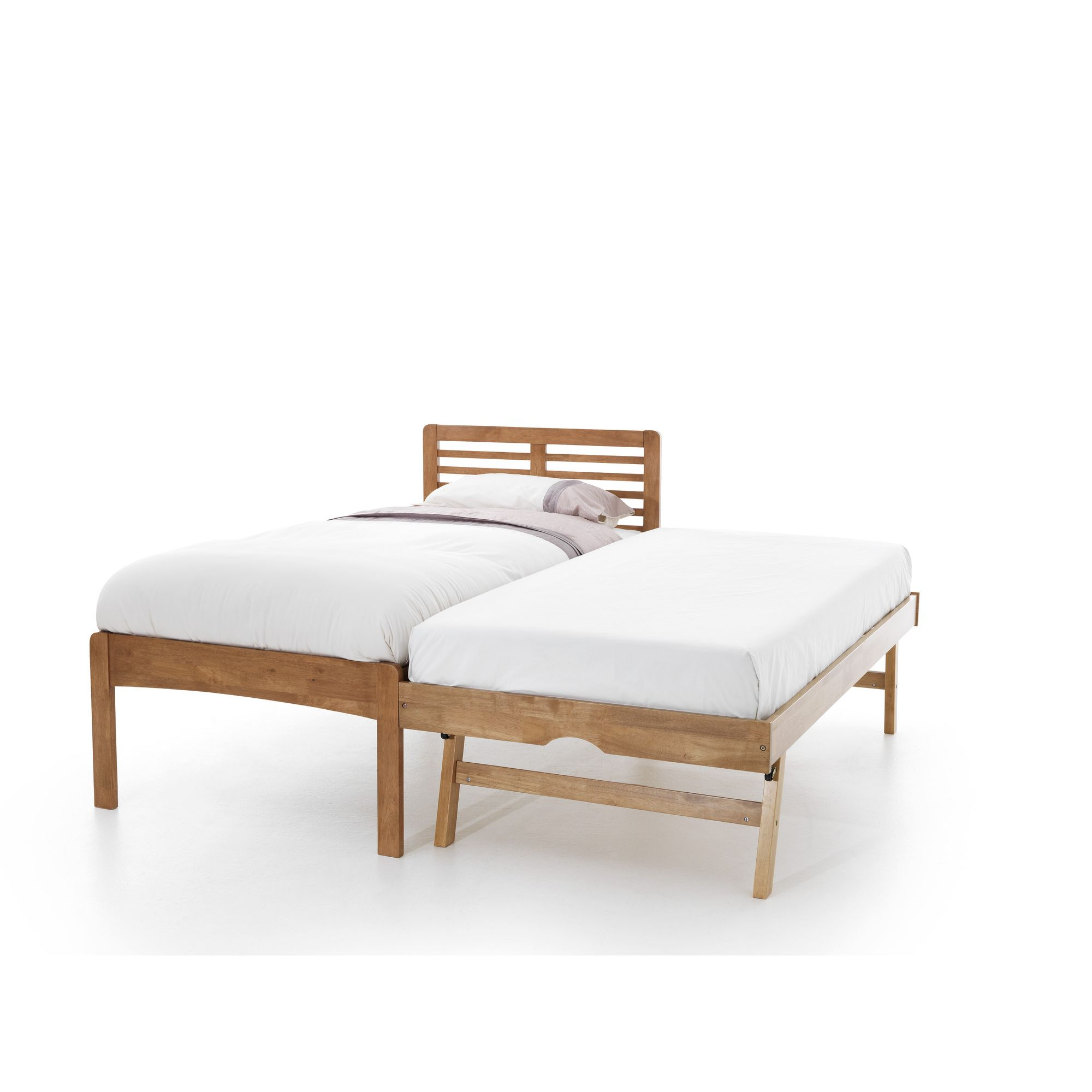 serene furnishings esther guest bed frame honey oak
