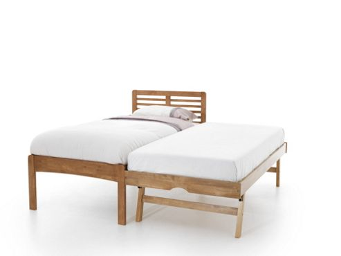 Serene Furnishings Esther Guest Bed Frame - Honey Oak