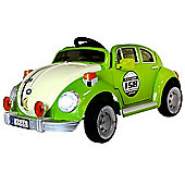 Kids Beetle Style Ride On Car With Remote Control - Green