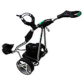 Stowamatic Gxt Electric Golf Trolley Silver W/ Carry Bag, Rain Cover, Cup Holder