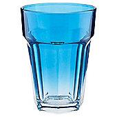 Tesco Single Soda Glass, Bright Blue Ombre