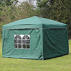 Palm Springs 10' X 10' Pop Up Gazebo Inc Sides Green