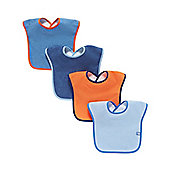 B Baby's Colour Block Towelling Bibs - 4 Pack