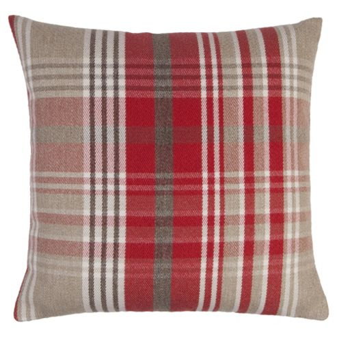 buy tesco red check cushion from our cushions range tesco. Black Bedroom Furniture Sets. Home Design Ideas