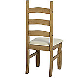 Home Essence Corona Dining Chair with Cream Faux Leather Seats (Set of 2) - Wood