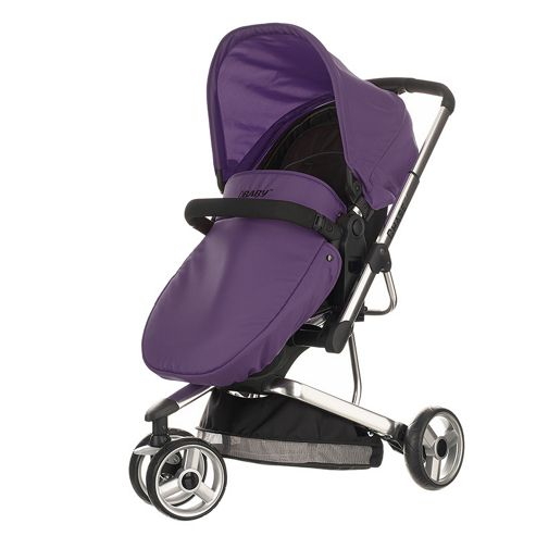Obaby Chase 3 Wheeler Pramette Travel System - Black & Purple