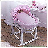 Clair de Lune Cotton Candy Moses Basket, Pink