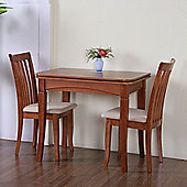 G&P Furniture Windsor House 3-Piece Newark Flip Top Dining Set - Cherry