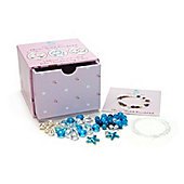 Children's Charm Stretch Bracelet Jewellery Making Kit Aqua